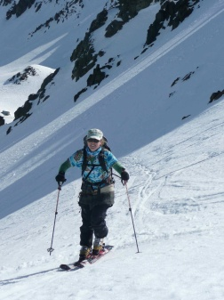 Mel Money touring Mt Olympus Mission WOW women ski