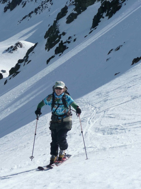 Mel Money touring Mt Olympus Mission WOW women ski