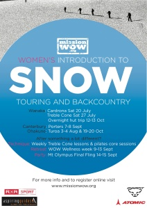 MISSION WOW-SNOW NZ 2013 schedule