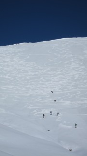 fresh tracks Treble Cone backcountry ski touring Mission WOW women