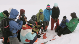 pit digging snow profile backcountry ski touring Mission WOW women