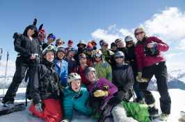 Top of Ardies crew Mt olympus Mission WOW ski women