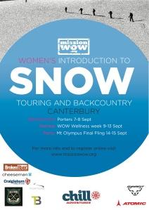 MISSION WOW-SNOW SKI TOURING CANTERBURY 2013 club logos
