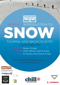 MISSION WOW-SNOW SKI TOURING CANTERBURY 2013 club logos